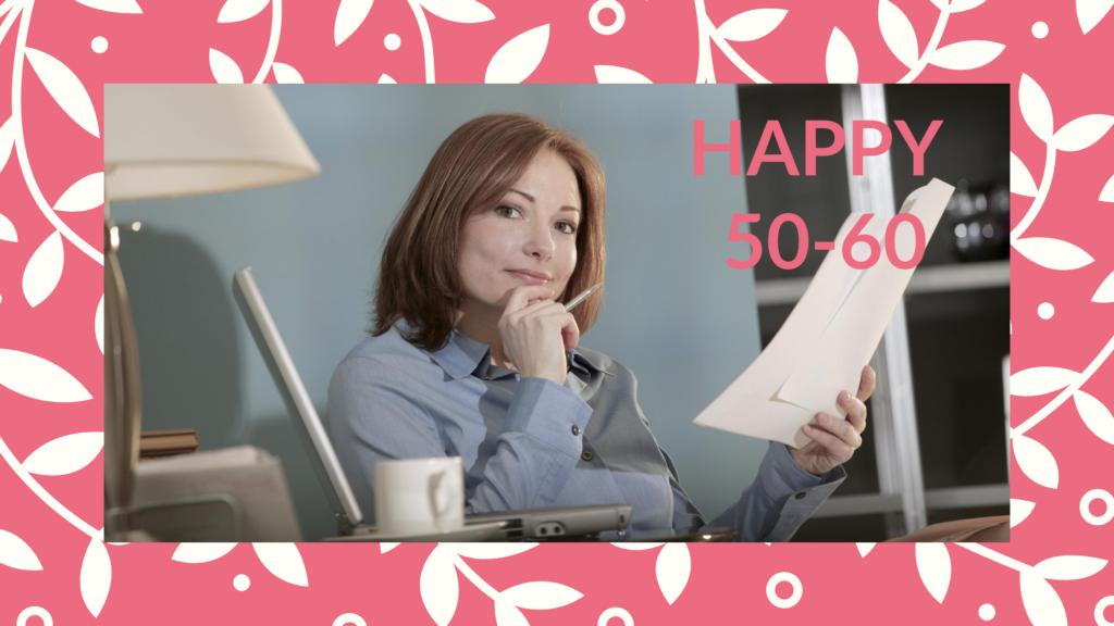 Programme pour les femmes de 50 à 60 ans