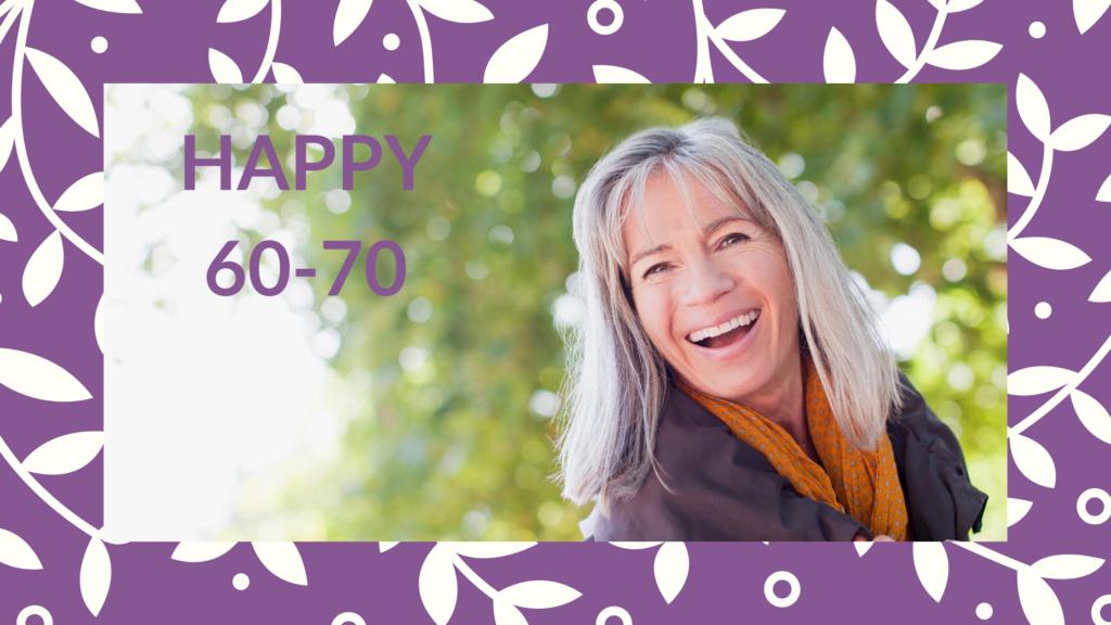 Programme pour les femmes de 60 à 70 ans