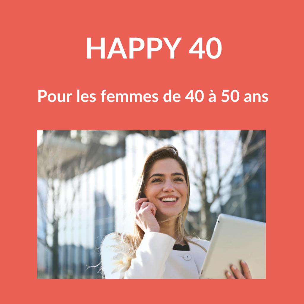 Accompagnement femmes de 40 ans