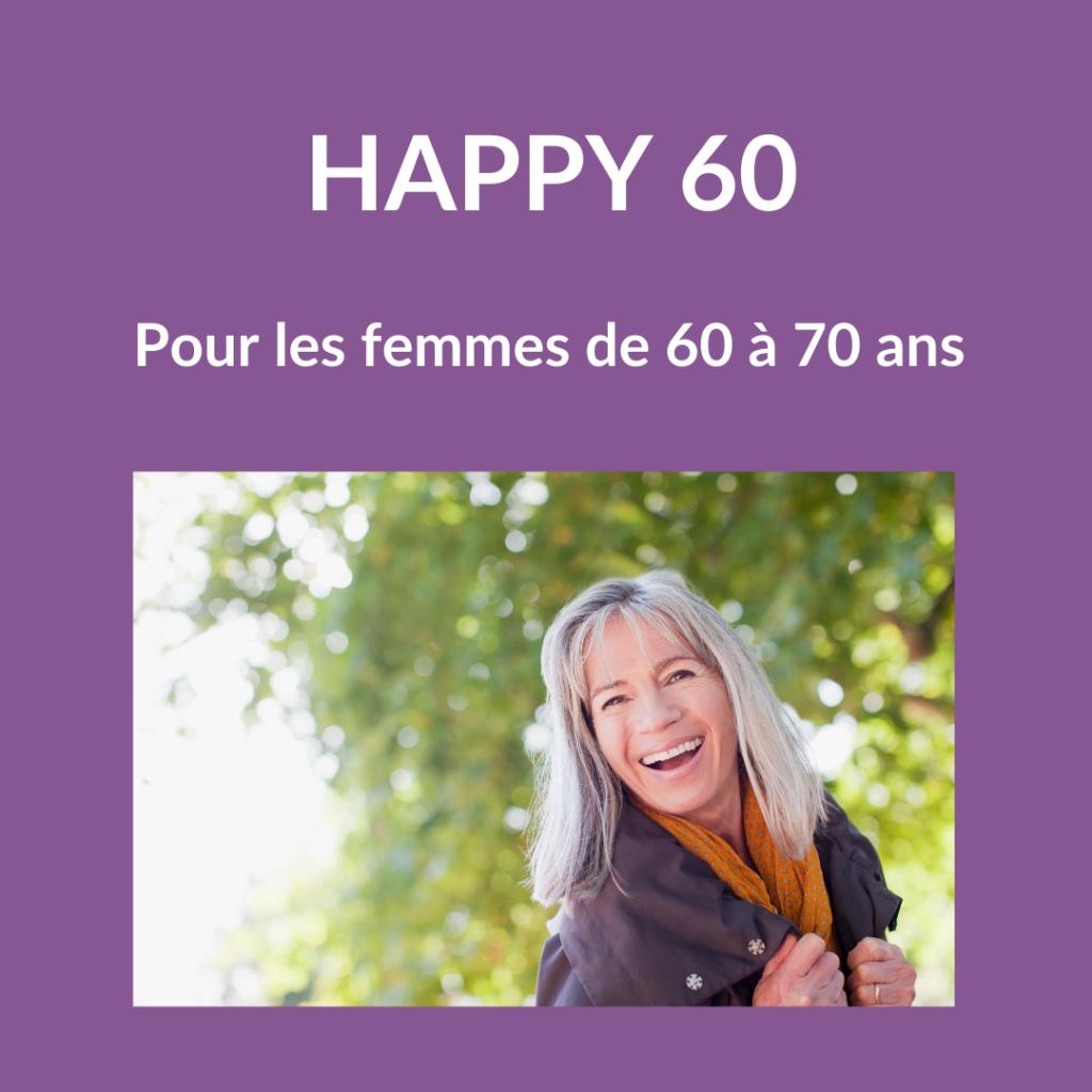 Accompagnement femmes de 60 ans